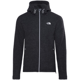 The North Face M's Zermatt Hooded Full Zip Fleece Jacket TNF Black Black Heather